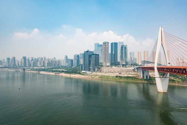 Ufer brücke business china reflexion