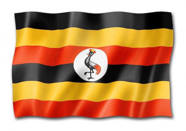 Uganda flagge isoliert