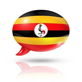 Ugandische flagge sprechblase