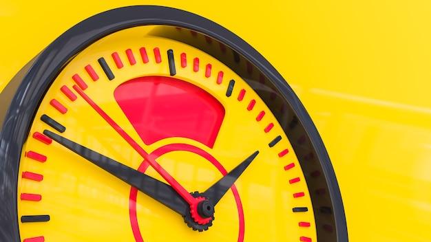 Uhr mit auto-tankanzeige 3d render
