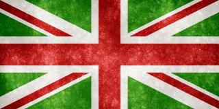 Uk grunge flag christmas farben