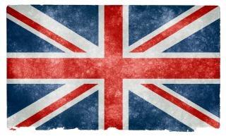 Uk grunge flagge, land,