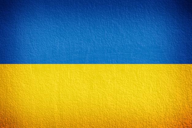 Ukraine-flagge auf der wandbeschaffenheit