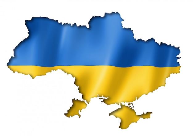 Ukrainische flagge karte