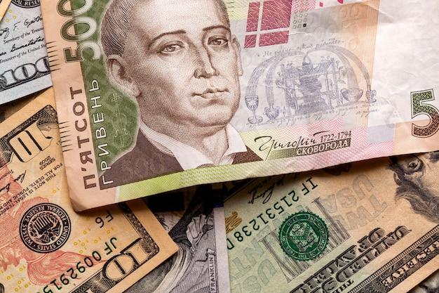 Ukrainische landeswährungsrechnung im wert von fünfhundert griwna