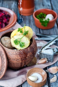 Ukrainisches nationalgericht ist ofenkartoffeln