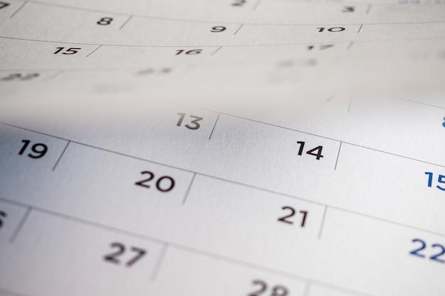 Umblättern der kalenderseite