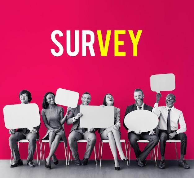 Umfrage bewertung analyse feedback-symbol
