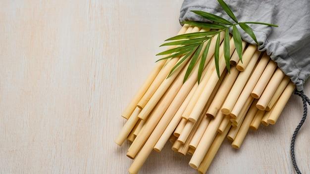 Umweltfreundliche umwelt bambusrohr strohhalme