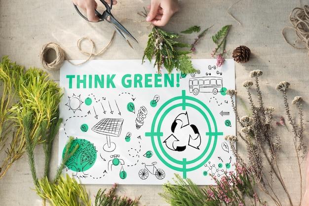 Umweltfreundliches energie-umwelt-nachhaltiges konzept