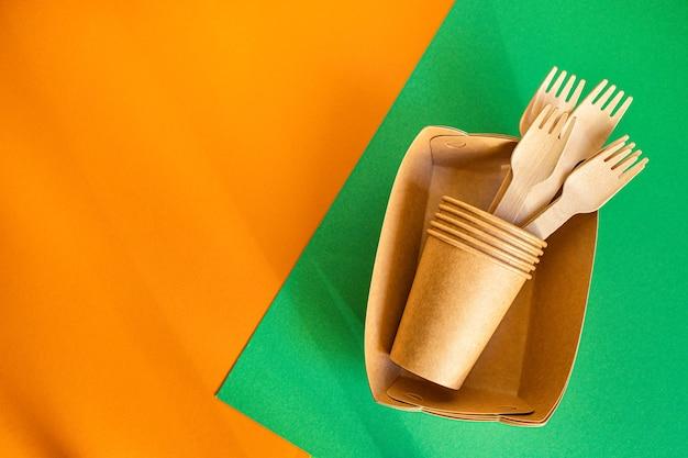 Umweltfreundliches geschirr aus bioorganischer stärke zero waste einweg-fast-food-behälter