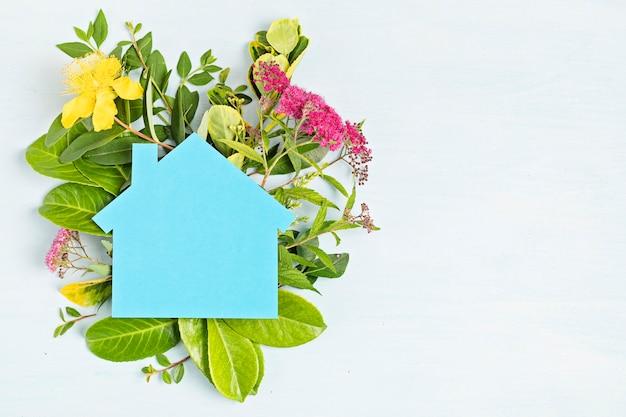 Umweltfreundliches haus, neues land zweitwohnsitzkonzept