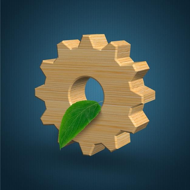 Umweltfreundliches industrie- und umweltschutzkonzept d illustration