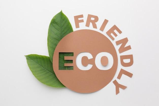 Umweltfreundliches zeichen