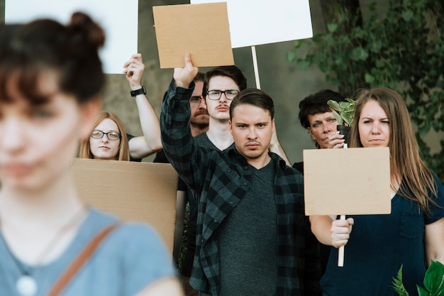 Umweltschützer protestieren für die umwelt