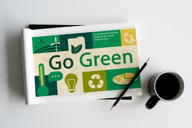 Umweltverantwortliche grüne globale ökologie