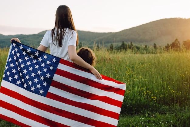 Unabhängigkeitstag der amerikanischen flagge 4. juliju