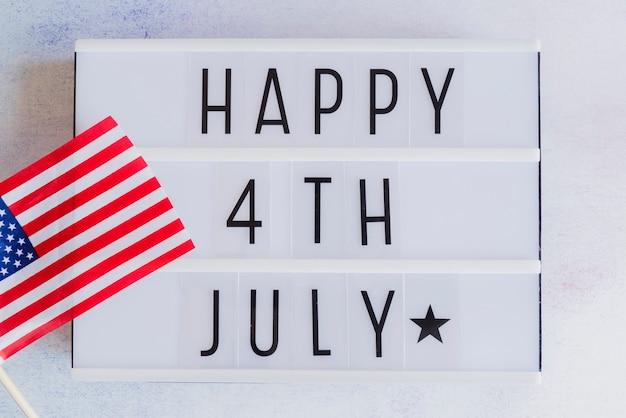 Unabhängigkeitstag-nachricht
