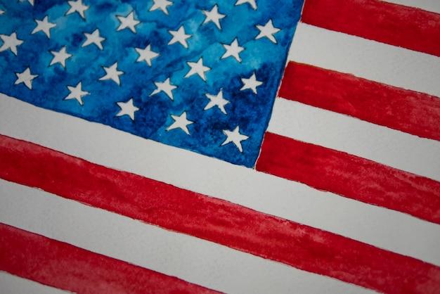 Unabhängigkeitstag usa 4. juli. amerikanische flagge