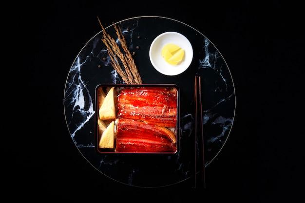 Unaju japanische traditionelle bento box platte