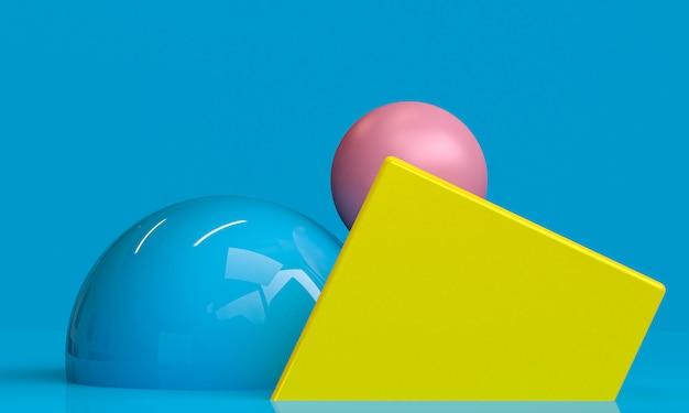 Unbedeutende abstrakte, ursprüngliche geometrische zahlen, pastellfarben, 3d übertragen.