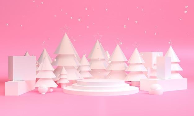 Unbedeutende geometrische weihnachtsmotivszene