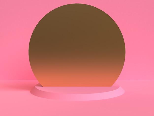 Unbedeutender geometrischer abstrakter hintergrund, pastellfarben, 3d übertragen, tendenzplakat, illustration.