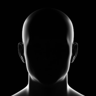 Unbekannte männliche silhouette person