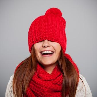 Und sie? magst du wintermütze?