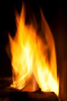 Undeutliche flammen