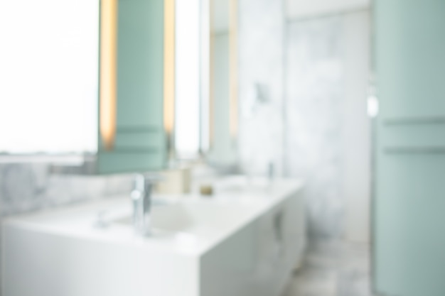 Unfocused weiße waschbecken