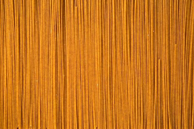 Ungekochte integrierte spaghetti-draufsicht