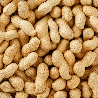 Ungereinigte erdnüsse in der schale. erdnüsse oder texturen.