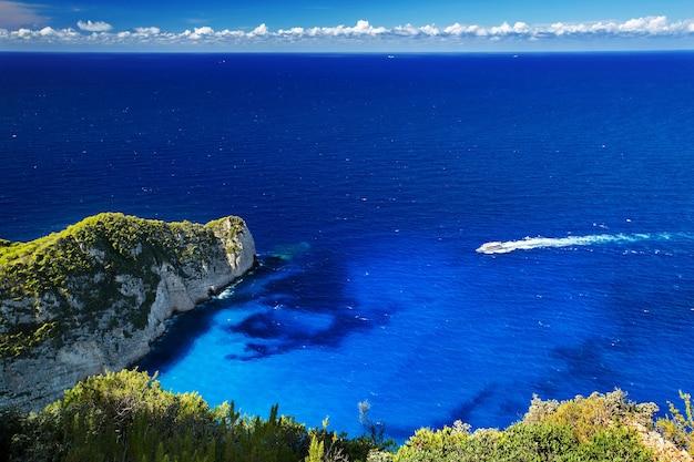 Unglaublichster navagio beach oder shipwreck beach. zakynthos, griechenland.