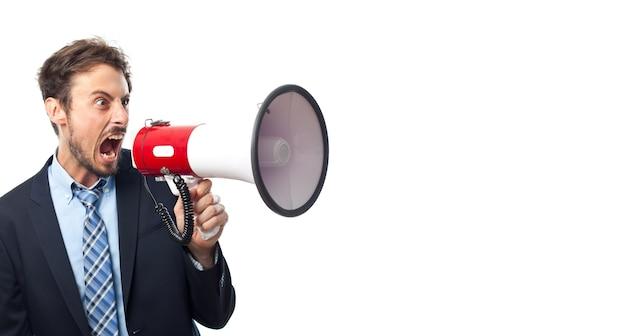Unheimlich verrückt corporate ausdruck laut