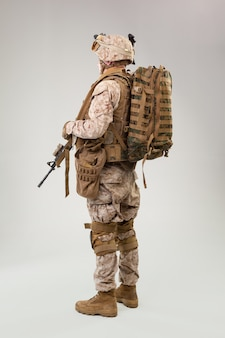 United states army marine ranger mit sturmgewehr