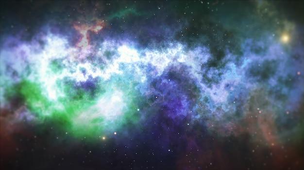 Universum voller sterne, nebel und galaxie