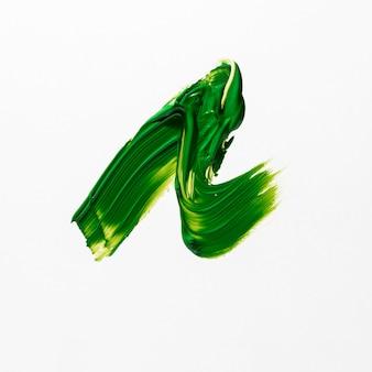 Unregelmäßige form des grünen pinselstrichs