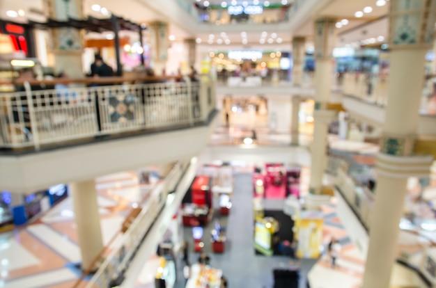 Unschärfe des inneren kaufhaushintergrundes