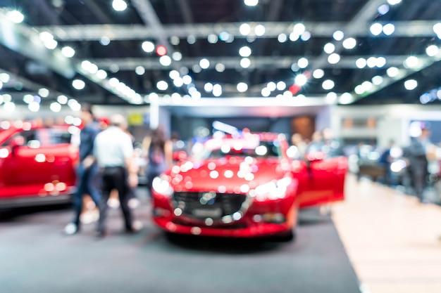 Unschärfe und defokussiert auto und motor ausstellung show event