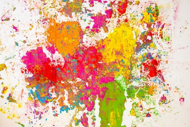 Unschärfen der trockenen farben orange, gelb, rot, violett und grün