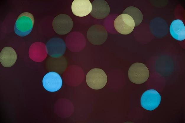 Unschärfen von vielen verschiedenen lichtern