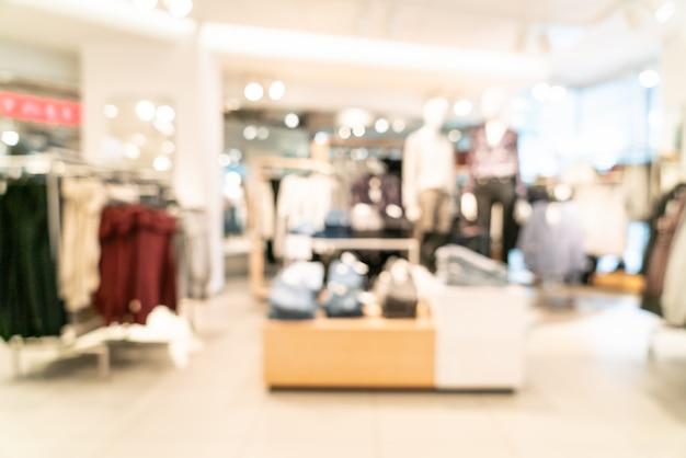 Unscharf einzelhandelsgeschäft im einkaufszentrum