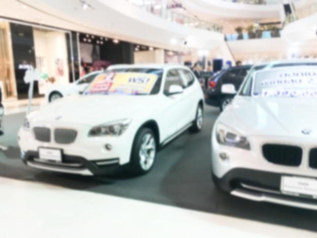 Unscharfe teure autos
