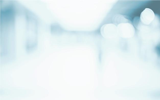 Unscharfer abstrakter hintergrund aus dem büro, modern light geräumiges geschäftszimmer
