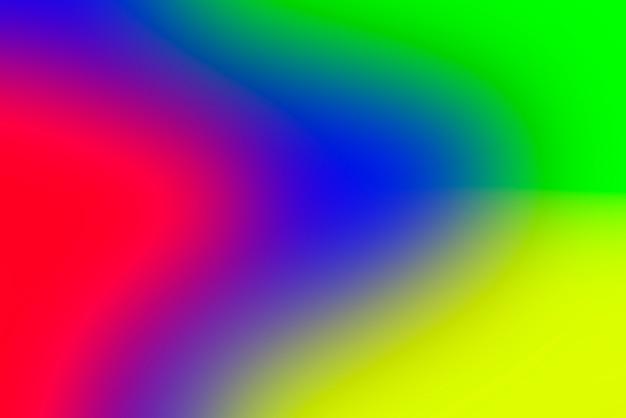 Unscharfer abstrakter hintergrund mit farbverlauf mit lebendigen primärfarben
