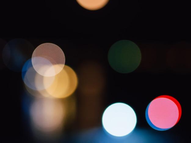 Unscharfer abstrakter hintergrund nachts