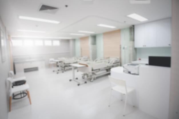 Unscharfer hintergrund abteilung oder intensivstation der intensivstation im krankenhaus