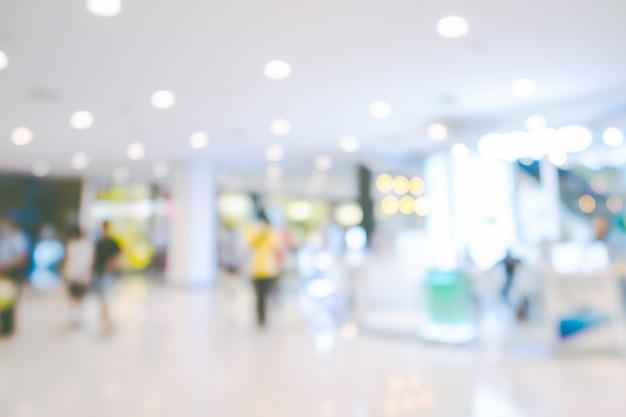 Unscharfer hintergrund des einkaufszentrums