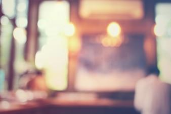 Unscharfer Hintergrund: Kunde im Café, Unschärfe Hintergrund mit Bok